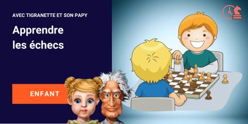 apprendre les echecs aux enfants